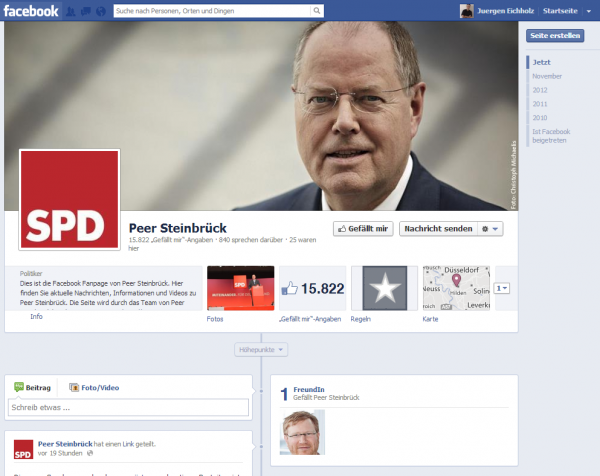 Screenshot of https://www.facebook.com/peersteinbrueck